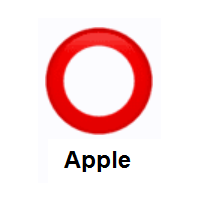 Heavy Large Circle: Hollow Red Circle on Apple iOS