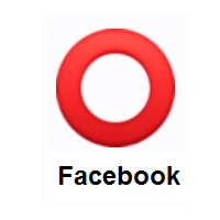 Heavy Large Circle: Hollow Red Circle on Facebook