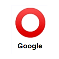 Heavy Large Circle: Hollow Red Circle on Google Android