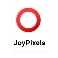 Heavy Large Circle: Hollow Red Circle on JoyPixels