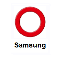 Heavy Large Circle: Hollow Red Circle on Samsung