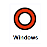 Heavy Large Circle: Hollow Red Circle on Microsoft Windows