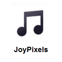 Musical Note on JoyPixels
