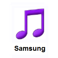 Musical Note on Samsung