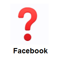 Question Mark on Facebook