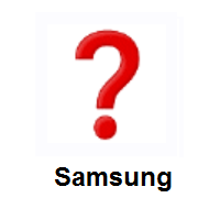 Question Mark on Samsung